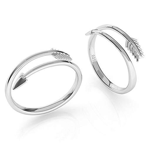 **Beforya Paris** Anillo * Flecha * Plata de ley 925 Mujer Anillo Tamaño Ajustable Sheer Elegante Ring! PIN/75