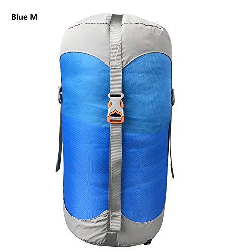 Générique Sac de Compression en Nylon pour Sacs de Couchage - 4 Couleurs - 4 Tailles - Couleur : Bleu - M
