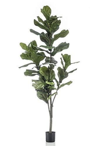 artplants.de Ficus lyrata de plástico ENRIKO, Tronco Falso, Verde, 150cm - Árbol Artificial - Ficus sintético