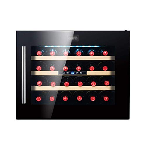Enfriador de Vino-Versión actualizada-Refrigerador de Vino Incorporado-Compresor Enfriador de Botellas de vino-21.8 X 23.3X 18.1 Pulgadas