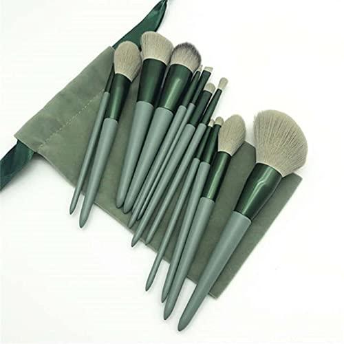 Escorpio juego de 13 brochas de maquillaje cepillos de maquillaje pelo suave pelo suelto polvo rubor cepillo maquillaje