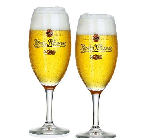 König Pilsner 6 Exclusiv-Bierpokale Glas Gastro Edition 0,3 Liter