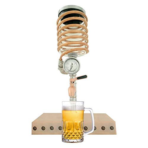 Beer Tower Drink Dispenser with Craft Dispenser Tap System Stainless Steel Mini Keg Dispenser Portable Kegerator Home Water Storage Home Decorations Bar Decorations…
