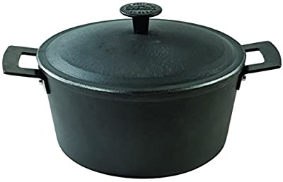 "Casserole 6 Quart light weight cast iron with cast iron lid 11"" Diameter"