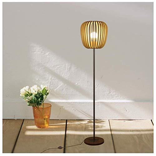Creatieve Scandinavische Woonkamer Massief Houten Vloerlamp Moderne Minimalistische Amerikaanse Landelijke Stijl Houten Individuele Staande Lamp