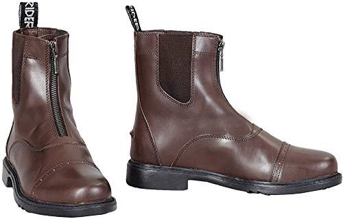 TuffRider Kinder Paddock Boots, Barock Front-Reißverschluss mit Metall Reißverschluss, Unisex, 3039, Mokka, 12