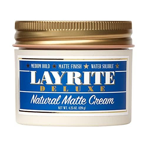 Layrite Natural Matte Cream, Basic, White, Mild Cream Soda, 4.25 Oz