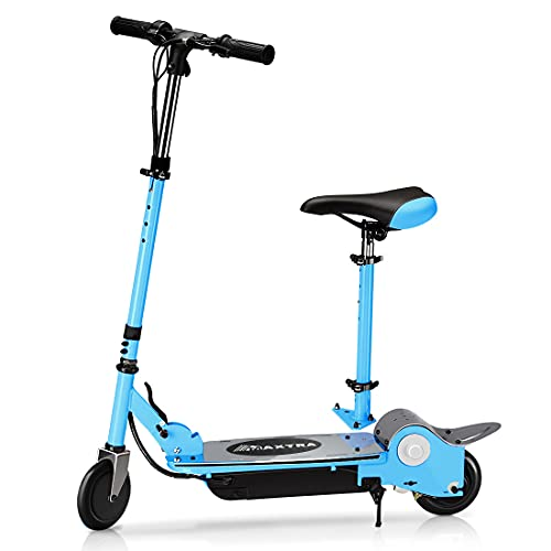 MAXTRA Upgraded E120 Electric Scooter with Removable Seat for Kids Ages 6-12,Adjustable Handlebar and Seat Scooters - Up to 10MPH and 155LBS Max Load