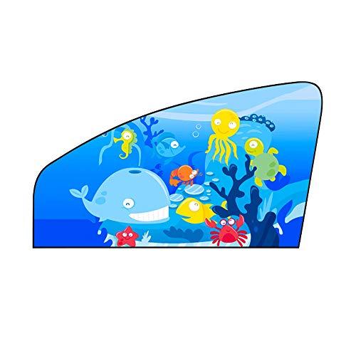 CTGVH Auto Zonneschaduw, 1 STKS Auto Zonneblok met Cartoon Patroon Auto Zonneschermen Beschermers Blokken UV Stralen Zonlicht Warmte voor Uw Kinderen en Huisdieren