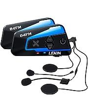 LX-B4FM バイク インカム 4riders 8人同時通話 FMラジオ Bluetoothインターコム 最大1600m スマホ音楽再生 音声コマンド IP67防水 無線機バイク いんかむ 連続15時間の長時間通話 インカムバイク 2種類マイク 日本語取扱と音声案内 2機セット