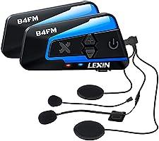 LX-B4FM バイク インカム 8riders 8人同時通話 FMラジ Bluetooth防水インターコ バイク用インカム スマホ音楽再生 Siri/S-voice IP67防水 無線機いんかむヘルメット用インカム 連続15時間の長時間通話...