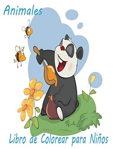 Animales Libro de Colorear para Niños: Libro de colorare para niños y niñas con 100 motivos de animales - Relajantes Libros Para Colorear Para Niños De 2-4, 3-6 Años - serpiente,conejo,oso,abeja