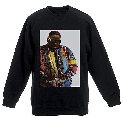 Actual Fact Biggie Supreme Farbe Geld Notorious Big Schwarz Sweatshirt Top - Schwarz, XL