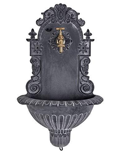 Antiker Wandbrunnen, Zierbrunnen, Gartenbrunnen, Brunnen, Eisenbrunnen für den den Garten LTA311 Palazzo Exclusiv