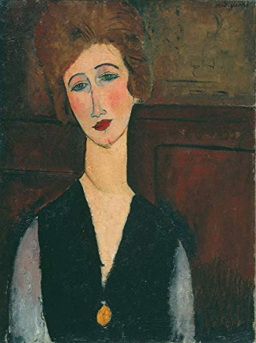 Berkin Arts Amedeo Modigliani Giclee Art Paper Print Art Works Paintings Poster Reproduction(Portrait of A Lady) #XZZ