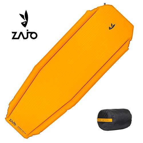 Zajo outdoor zelfopblazende comfort lange isomat expert campingmat R-waarde 3.2 Afmetingen: 198 x 63,5 x 3,8 cm slechts 948 g kleine verpakkingsmaat, zelfopblazend, geel, opblaasbaar voor sport en camping
