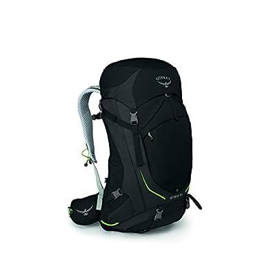Osprey Packs Stratos 50 Backpack, Black, M/l, Medium/Large