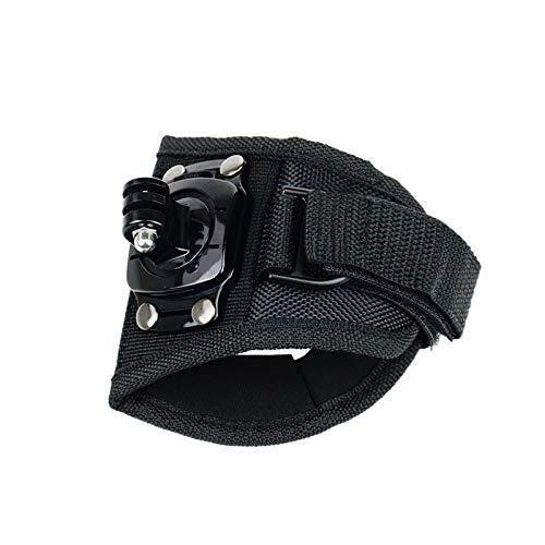 FUQUANDIAN Handschuhstil Band Handschlaufenhalterung Streifen Kompatibel mit Gopro Helden 7 6 5 DJI OSMO 360-Grad-Drehung Berg Sport Action Kamera Halter Zubehör