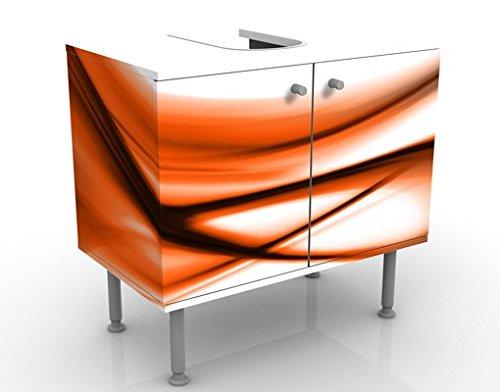 Meuble sous Vasque Design Orange Touch 60x55x35cm, Petit, 60 cm de Large, réglable, Table de lavabo, Armoire de lavabo, lavabo, Meuble Bas, Baignoire, Salle de Bains, Armoire de Salle Bains