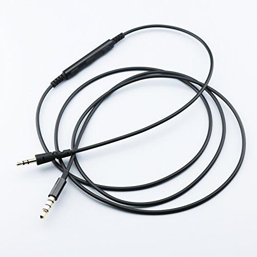 KetDirect - Cavo di ricambio per cuffie Bowers & Wilkins P5 / P5 S2 / Wireless/Recertificate, telecomando del volume e cavo per microfono, compatibile solo con iPhone, iPod, iPad, iOS