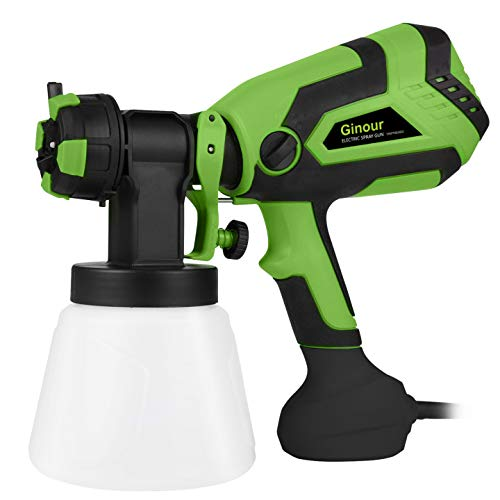 Paint Sprayer for Home, Ginour 600W Hvlp Spray Gun, Electric...