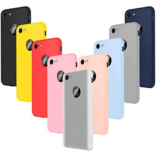 Leathlux 9 × Coque iphone 7 Étui Silicone, [Ultra Mince] Souple TPU Housse Protection Doux Gel Skin Coque pour iphone 7 4.7'...