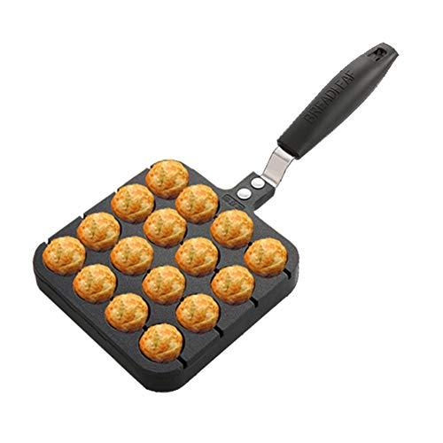 GCT Grillplatte Kochplatte, Aluminiumguß Antihaft- Kochlöffel Pancake Japanische Octopus Kugeln Maschine Pfanne Gebratene Wachteleies Aberdeen,Schwarz