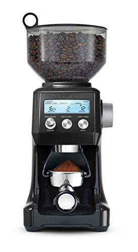 SAGE SCG820 the Smart Grinder Pro Kaffeemühle mit LCD-Anzeige für Press- oder Filterkaffee, Matt-Schwarz