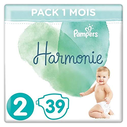 Pampers Harmonie Pack de 39 Couches Taille 2 4-8 kg