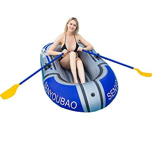 Barco hinchable de PVC, canoa para 2 personas, remo y pesca
