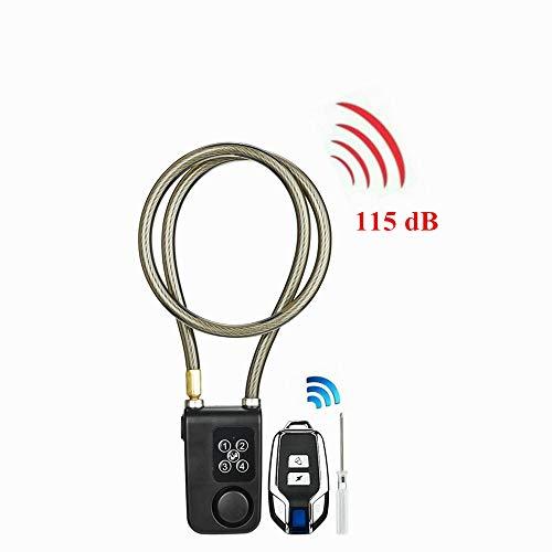 Tosuny Fahrradschloss, 115 dB Funkfernbedienung Alarmschloss, elektrisches Fahrrad Motorrad Kettenschloss, Bluetooth Fahrradsicherheitsschloss, IP55 wasserdicht und staubdicht