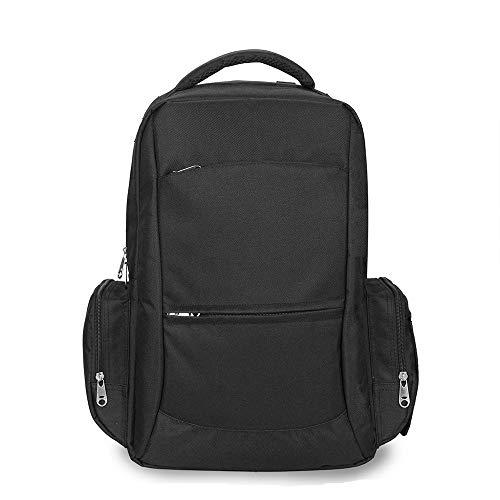 TFTREE Wickeltasche Rucksack, multifunktionale Reisetasche für Mädchen große Babytasche Hängender Kinderwagen Mit USB-Ladeanschluss Isolierfach-black