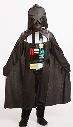 Disfraz, Star Wars, Darth Vader. Incluye: Mono, Capa, Cinturón y Casco (textil). (Talla 3-4 Años)