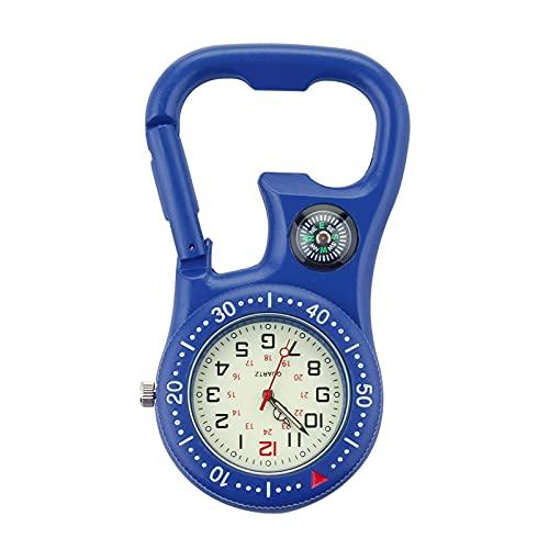 BINGHC Clip Bolsillo Watchhiking Climb Relojes Deportivos médicos Vintage Reloj Montañismo Equipo Deportivo (Color : Blue)