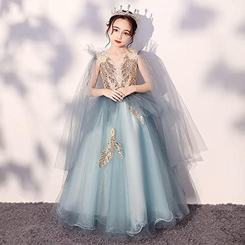 SUNXC Primera Comunion Vestido, Falda de Princesa Vestido de Gasa esponjosa-One Kind_110 cm,Cumpleaños De Halloween Vestido de Princesa
