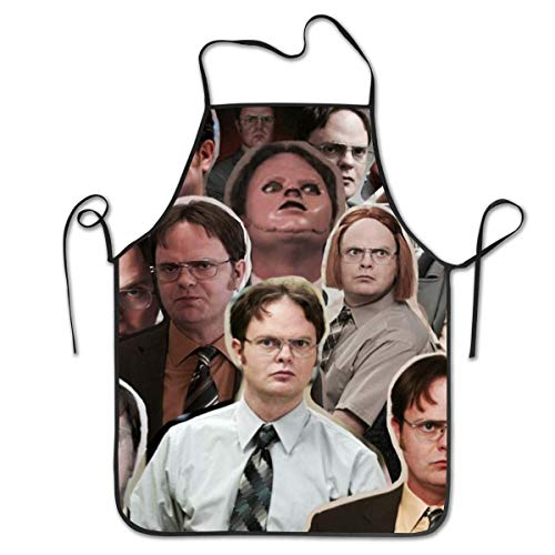 Dwight Schrute 3D Printed Apron Men's Cooking Kitchen Chef Aprons Adjustable Straps for BBQ Garden Painting Dinner Coffee Shop