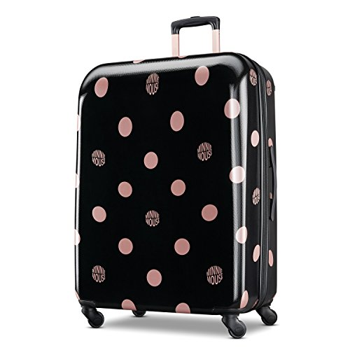 American Tourister Disney Hardside Luggage with Spinner Wheels, Minnie Lux Dots, Checked-Large 28-Inch