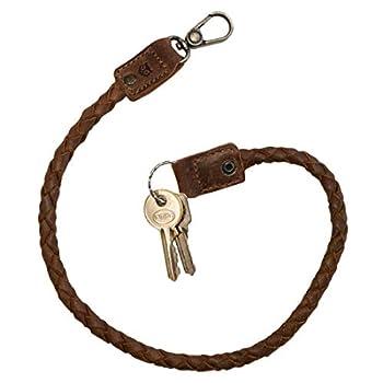 Hide & Drink Leather Braid Biker Chain / Key Lanyard / Keychain / Wallet Chain / Accessories / Motorcycles / Vintage Handmade Includes 101 Year Warranty    Bourbon Brown