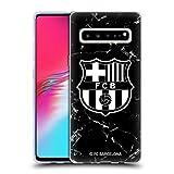Official FC Barcelona Black Marble Crest Patterns Soft Gel