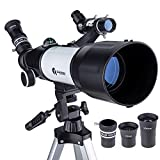 Best Telescopes Telescopes For Beginners - Quintessy Telescope | Portable 400 x 70mm Astronomical Review