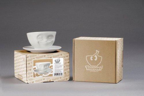 Fiftyeight Kaffeetasse GRINSEND ca. 200ml / weiß