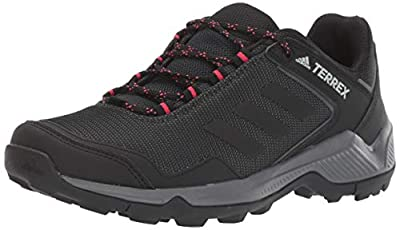 adidas outdoor Women's Terrex EASTRAIL Hiking Boot, Carbon/Black/Active Pink, 8 M US