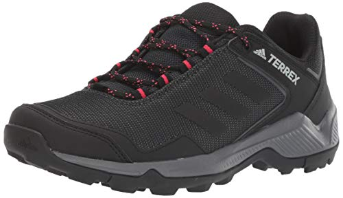 adidas outdoor Women's Terrex EASTRAIL Hiking Boot, Carbon/Black/Active Pink, 8.5 M US
