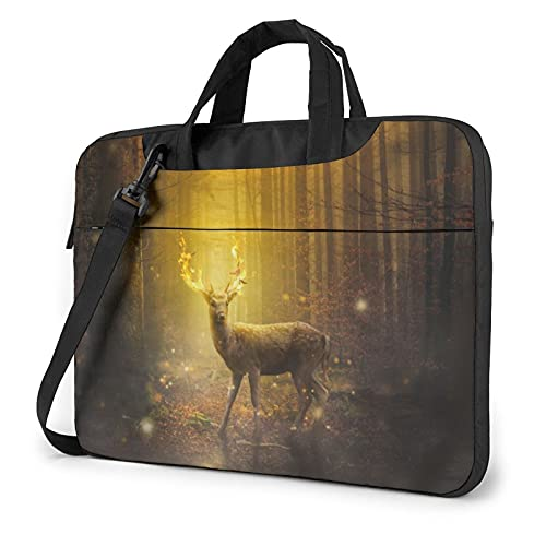 Laptop Sleeve Bag Dear Forest Digital Art Tablet Briefcase Ultraportable Protective Canvas for 13 inch MacBook Pro/MacBook Air/Notebook Computer