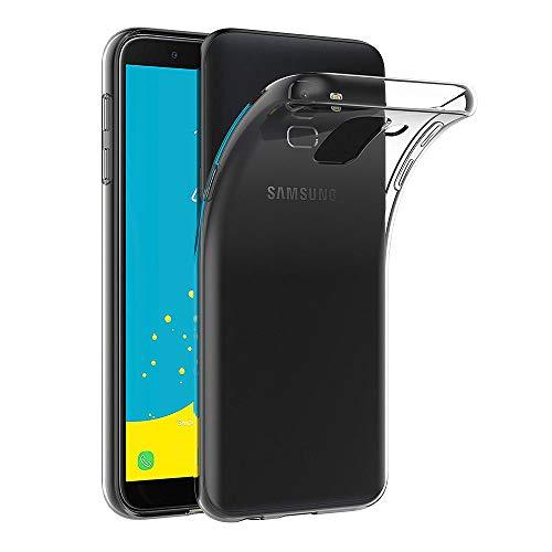 AICEK Samsung Galaxy J6 2018 Hülle, Transparent Silikon Schutzhülle für Samsung Galaxy J6 2018 Hülle Clear Durchsichtige TPU Bumper Samsung Galaxy J6 2018 Handyhülle (5,6 Zoll SM-J600F)