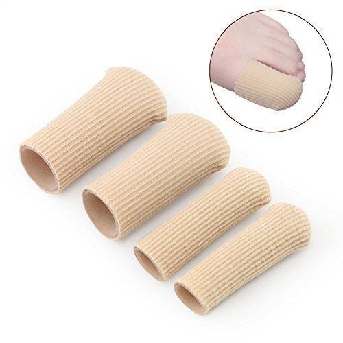 Owfeel Lot de 4 tubes de protection hydratants en silicone pour doigts/orteils