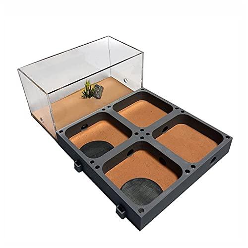 Hormiga,Granja De Hormigas Planas De Acrílico 3D,Nido De Hormigas Ecológicas Con Área De Alimentación Hormiga De Hormigón De Hormigón De Hormigón Para Mascotas Taller De Hormiguero Hidratante Piscina