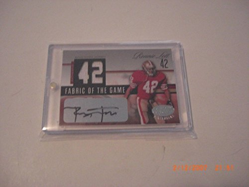 Ronnie Lott 49ers 2006 Leaf Limited Game Used Jersey Auto 23/42 Signed Card - Football Game Used Cards