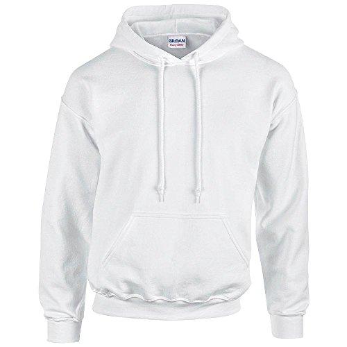 Gildan - Unisex Kapuzenpullover 'Heavy Blend' , White, Gr. S