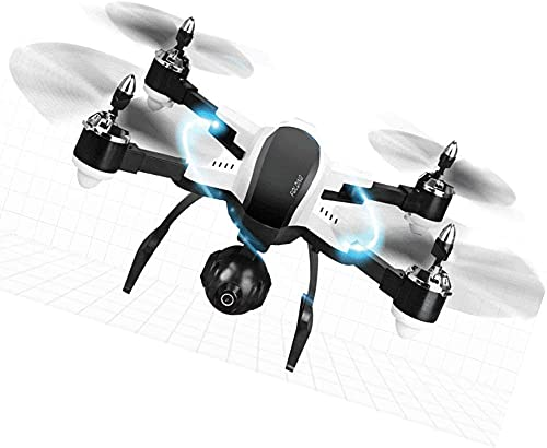 DCLINA Selfie Plegable RC con WiFi FPV Cámara 3 Millones píxeles Retención altitud Quadcopter Presión Aire Altura Fija para Principiantes